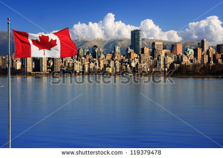 stock-photo-canadian-flag-in-front-of-the-beautiful-city-of-vancouver-canada-119379478 canada
