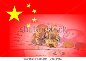 stock-photo-chinese-money-on-the-background-of-chinese-national-flag-296194937 yuan chine