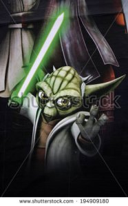 stock-photo-circa-may-berlin-a-poster-with-the-comic-yoda-character-as-an-advertisement-for-the-194909180
