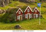 stock-photo-icelandic-houses-with-a-flag-of-iceland-146242259
