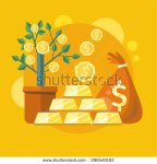 stock-photo-investments-in-gold-dollar-tree-grows-in-pot-and-bag-of-money-investments-idea-icon-in-flat-296549183 or
