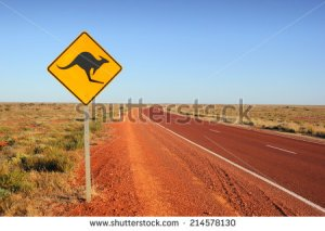 stock-photo-kangaroo-traffic-sign-214578130 australie