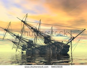 stock-photo-sinking-ship-66615616 bateau pirate