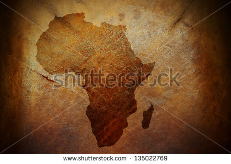 stock-photo-water-stain-mark-in-the-shape-of-the-africa-continent-map-on-a-weathered-brown-leather-parchment-135022769