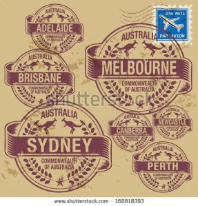 stock-vector-grunge-rubber-stamp-set-with-names-of-australia-cities-vector-illustration-168818393 australie