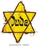 stock-vector-jewish-yellow-star-this-david-s-star-was-used-in-ghetto-and-concentration-camps-26002846 juif naziste