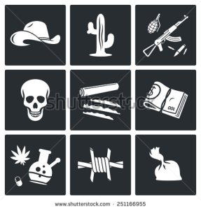 stock-vector-mexican-cartel-and-arms-smuggling-vector-icons-set-251166955 mexique