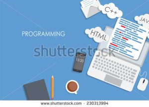 stock-vector-programming-coding-flat-concept-vector-illustration-230313994 algo fintech