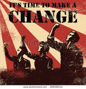 stock-vector-revolution-poster-workers-raising-fists-with-text-it-s-time-to-make-a-change-vector-268598132 émeute révolution changement