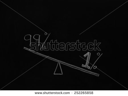 stock-photo-a-concept-photo-showing-heavy-weight-one-percent-and-light-weight-ninety-nine-percent-this-252265858 inégalité