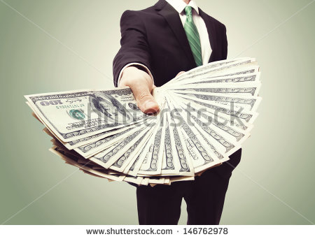stock-photo-business-man-displaying-a-spread-of-cash-over-a-green-vintage-background-146762978