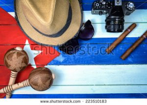 stock-photo-cuba-related-vintage-items-on-painted-national-flag-223510183