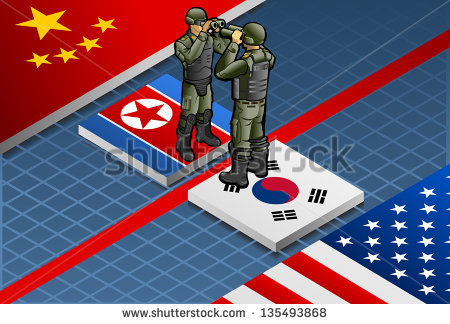 stock-photo-detailed-illustration-of-a-isometric-concept-of-korean-crisis-escalation-135493868