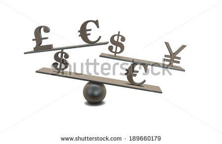 stock-photo-forex-concept-idea-with-currencies-symbols-and-scale-isolated-189660179
