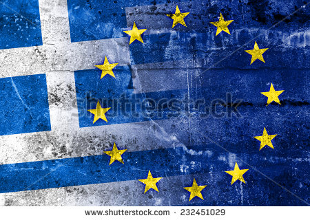 stock-photo-greece-and-european-union-flag-painted-on-grunge-wall-232451029 grece