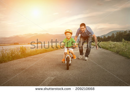 stock-photo-happiness-father-and-son-on-the-bicycle-outdoor-209210668