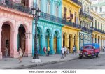 stock-photo-havana-june-typical-street-scene-with-people-and-colorful-buildings-on-june-in-havana-143563039 cuba
