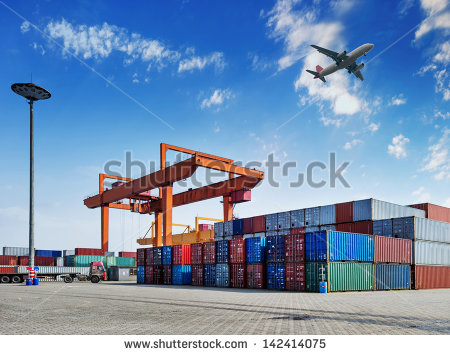 stock-photo-industrial-port-with-containers-142414075 export