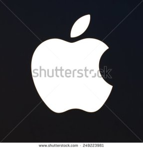 stock-photo-madrid-spain-august-apple-sign-close-up-is-an-american-corporation-that-designs-and-249223981