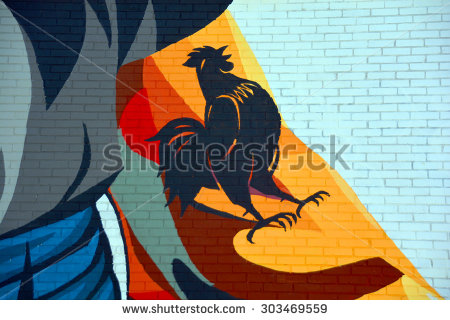 stock-photo-montreal-canada-july-street-art-france-rooster-montreal-is-the-perfect-place-to-walk-in-303469559