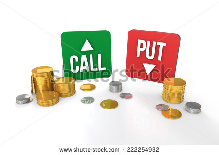 stock-photo-options-trading-call-and-put-symbol-with-coins-222254932
