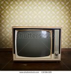stock-photo-retro-tv-with-wooden-case-in-room-with-vintage-wallpaper-and-parquet-132384326