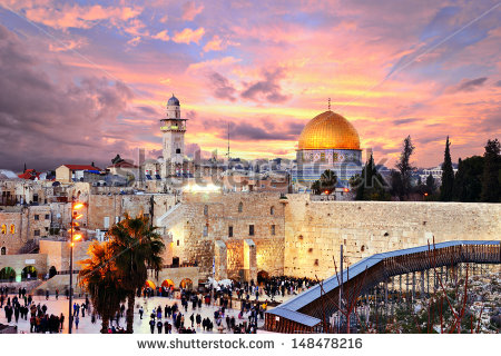 stock-photo-skyline-of-the-old-city-at-he-western-wall-and-temple-mount-in-jerusalem-israel-148478216