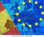 stock-photo-spanish-debt-crisis-spanish-and-european-flag-with-the-star-ring-translucent-the-map-of-europe-286321580 espagne