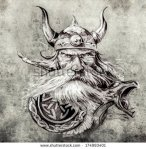stock-photo-tattoo-art-sketch-of-a-viking-warrior-illustration-of-an-ancient-wooden-figurehead-on-a-viking-174993401