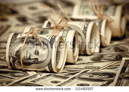 stock-photo-the-roll-of-us-federal-reserve-notes-old-style-photo-111482507 dollars planche a billet