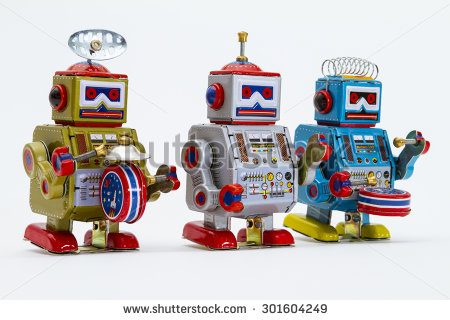 stock-photo-three-colorful-tin-toy-robots-marching-towards-the-right-playing-drums-301604249