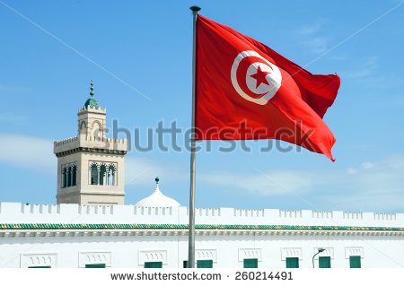 stock-photo-tunisia-tunis-town-hall-square-the-tunisian-flag-260214491