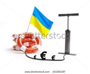 stock-photo-ukraine-lifebuoy-pump-euro-money-on-a-white-background-241591297