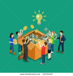 stock-vector-business-idea-crowdfunding-volunteer-concept-flat-d-web-isometric-infographic-vector-group-of-247151437