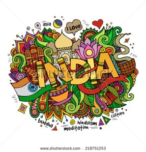 stock-vector-india-hand-lettering-and-doodles-elements-background-vector-illustration-218751253