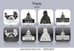 stock-vector-landmarks-of-paris-set-of-monochrome-icons-editable-vector-illustration-166043636