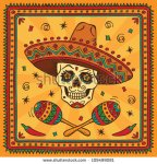 stock-vector-mexican-sugar-skull-cartoon-vector-version-109499081 mexique