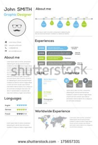 stock-vector-resume-with-infographics-and-timeline-vector-illustration-175657331