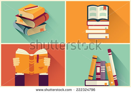 stock-vector-set-of-books-in-flat-design-vector-illustration-222324796