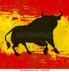 stock-vector-spanish-background-vector-template-with-a-bull-over-a-grunged-flag-of-spain-76261996 espagne