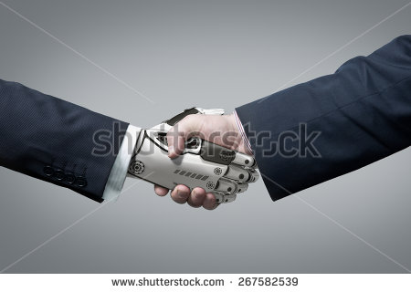 stock-photo-business-human-and-robot-hands-in-handshake-artificial-intelligence-technology-design-concept-267582539 intelligence artificielle