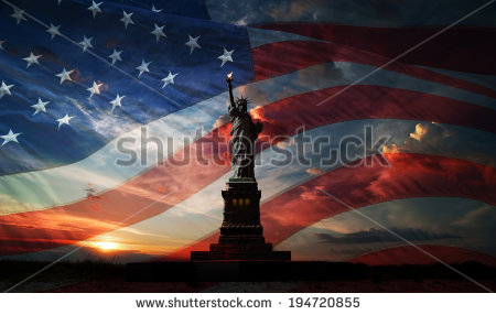 stock-photo-statue-of-liberty-on-the-background-of-flag-usa-and-sunrise-194720855 usa statue of freedom
