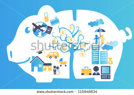 stock-vector-a-vector-illustration-of-a-piggy-bank-containing-all-future-financial-planning-115948834