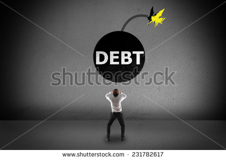 stock-photo--grenade-debt-on-the-wall-231782617
