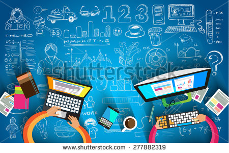 stock-photo-infographic-teamwork-and-brainstorming-with-flat-style-a-lot-of-design-elements-are-included-277882319