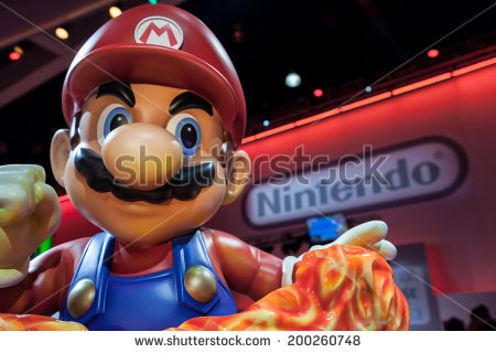 stock-photo-los-angeles-june-giant-super-mario-statue-and-nintendo-logo-at-e-the-expo-for-video-200260748