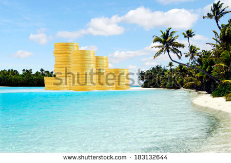 stock-photo-offshore-banking-and-tax-havens-concept-with-golden-coins-on-tropical-island-money-concept-with-183132644