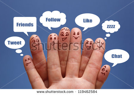 stock-photo-social-network-concept-finger-people-in-discussion-with-speech-bubbles-119462584