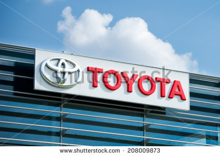 stock-photo-vilnius-july-toyota-logo-on-july-in-vilnius-lithuania-toyota-motor-corporation-is-a-208009873