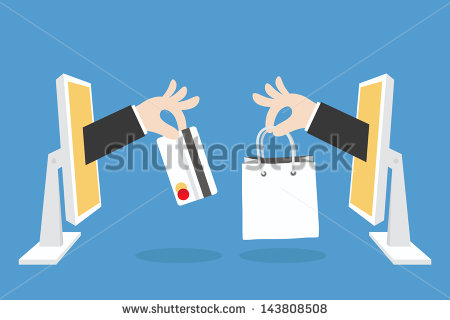 stock-vector-e-commerce-concept-minimal-design-vector-143808508